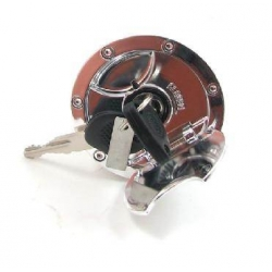 Tank cap MBK Nitro - Yamaha Aerox with slot, chrome