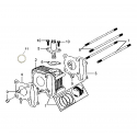 137QMB 50cc cylinder and parts